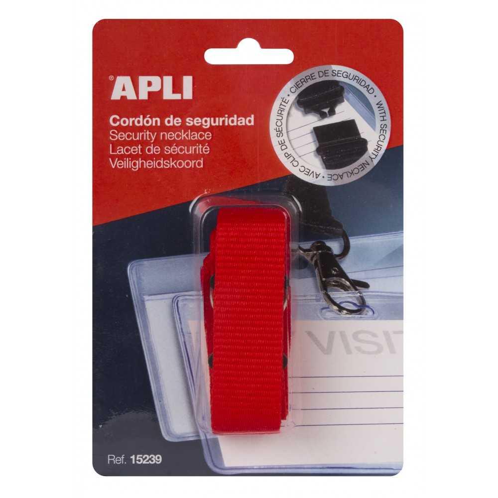 1 Cordón de Seguridad Rojo para Identificadores Apli 15239
