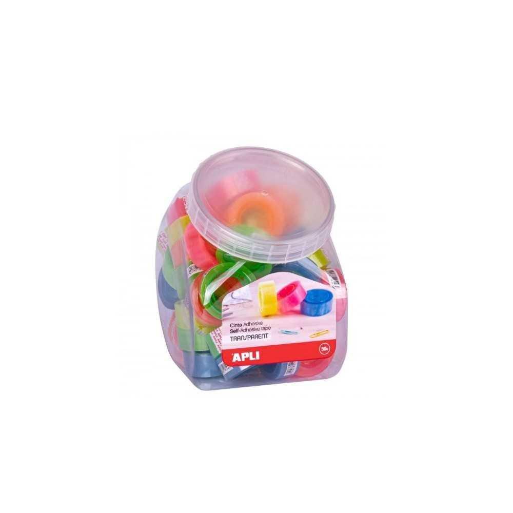 Expositor de Cintas Adhesivas de Colores 19mm x 33m Apli 18146