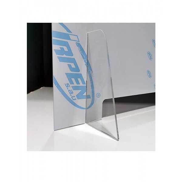 Mampara de metacrilato para protección anticontagio 70x65 cm. vista 2- COVID-19