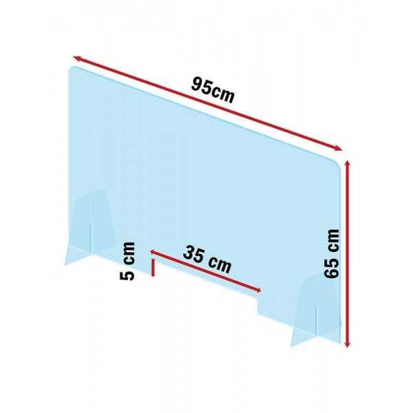 Mampara de metacrilato para protección  95x65 cm. vista2