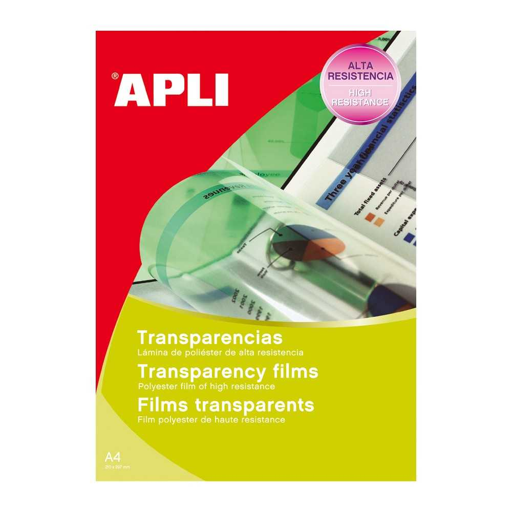 Transparencias Inkjet Caja 50 Hojas Apli 01230