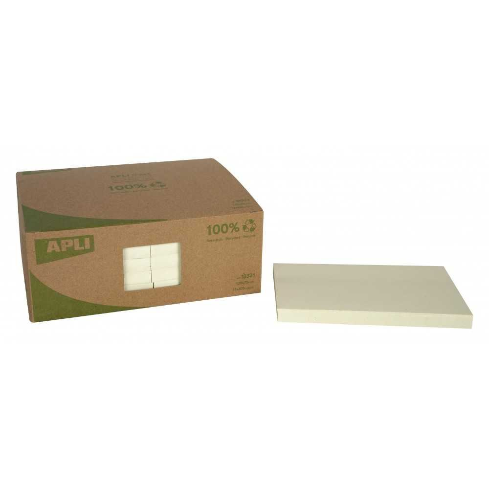 Notas Adhesivas Color Amarillo 125x75 mm 12 Blocs Apli 18321