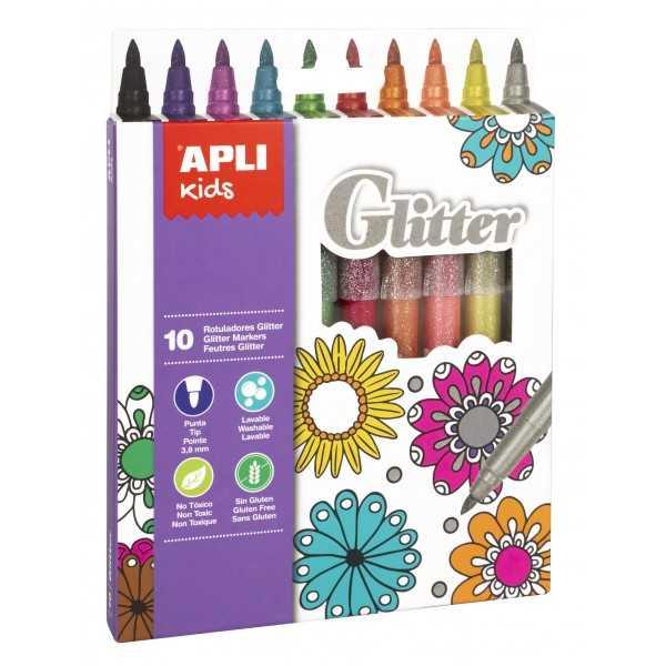 Rotuladores Glitter Colores Surtidos Apli 18218