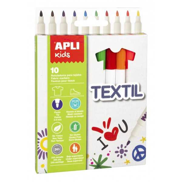 Caja Rotuladores Para Textil Colores Surtidos Apli 18220