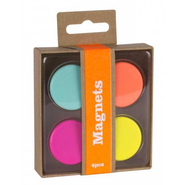 4 Imanes Colores Fluor Apli 15152