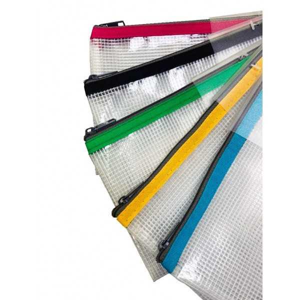 5 Bolsas Zipper Bag PVC Transparente A6 Apli 17382