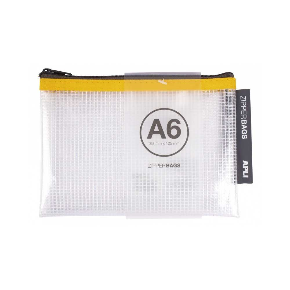 5 Bolsas Zipper Bag PVC Transparente A6 Apli 17382