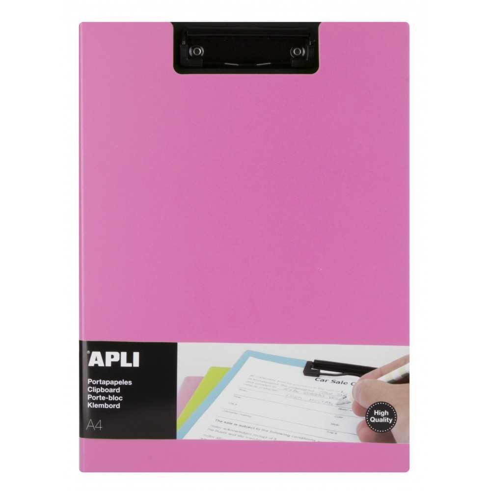 Porta Papeles Color Rosa  A4 Apli 17208