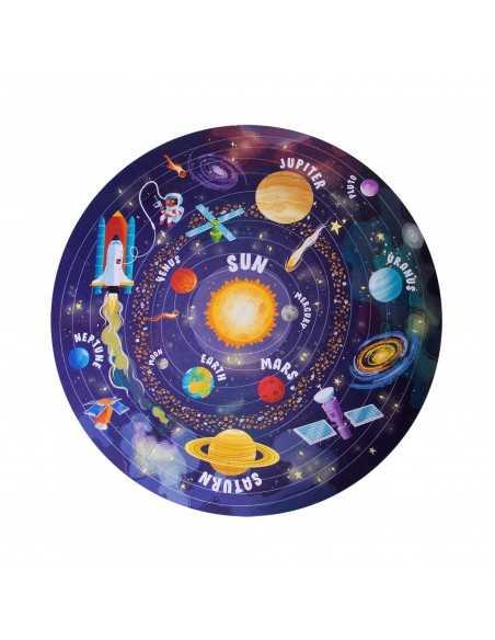 puzle circular sistema solar apli