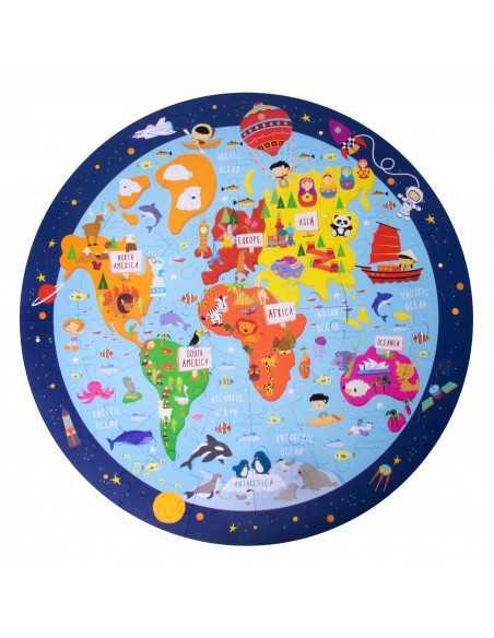 puzle circular mapamundi apli 18201