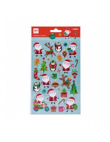 Pegatinas Navidad Papá Noel Vespa 1 Hoja Apli 18550