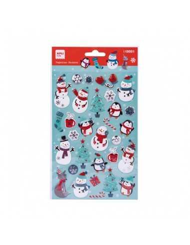 Pegatinas de Navidad Muñeco de nieve. Apli 18551