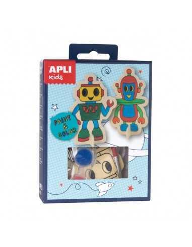 Mini kit Pinta & Colorea Robot Apli 14712