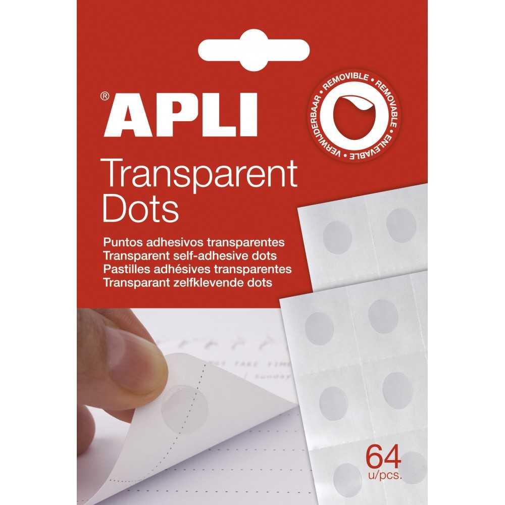 Puntos Adhesivos Transparente Apli Dot Apli 12871