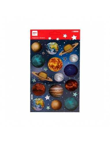 Bolsa Pegatinas Temática Planetas 1H Apli 18558