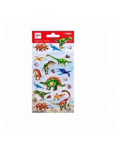 Bolsa Pegatinas Temática Dinosaurios 1H Apli 18564