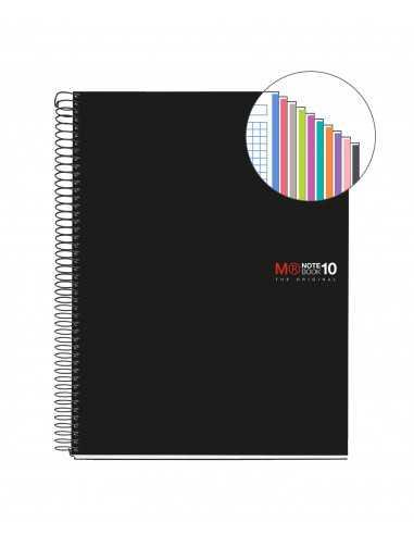 NoteBook Original Tapa Polipropileno A4 200h 10 Colores
