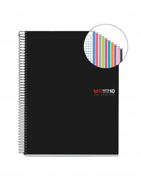 NoteBook Original Tapa Polipropileno A5 200h 10 Colores
