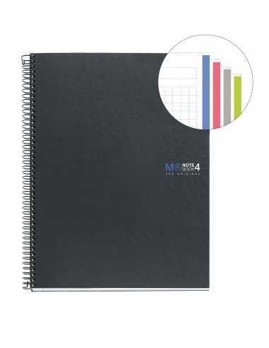 NoteBook Original Cartón Grafito A5 160h 4 Colores