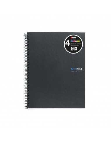 NoteBook Original Cartón Grafito Rayas A5 160h