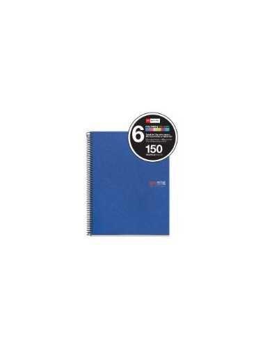 NoteBook Original Polipropileno Rayas A4 150h 6 Colores