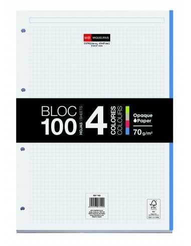 Bloc Encolado 100 Hojas 4 Colores