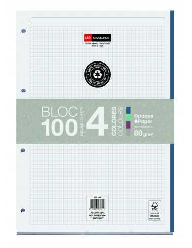 Bloc Encolado 100 Hojas 4 Colores ECO