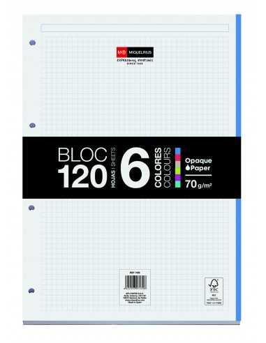 Bloc Encolado 120 Hojas 6 Colores