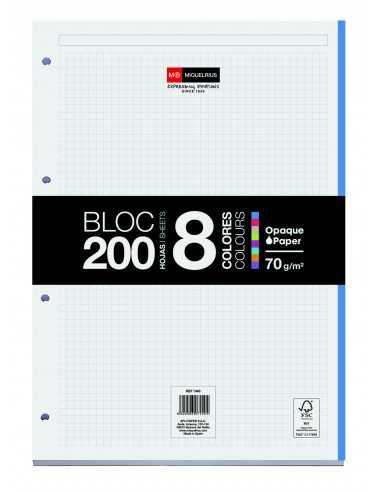 Bloc Encolado 200 Hojas 8 Colores