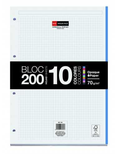 Bloc Encolado 200 Hojas 10 Colores