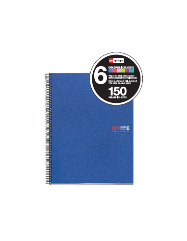 NoteBook Original Polipropileno Rayas A5 150h 6 Colores