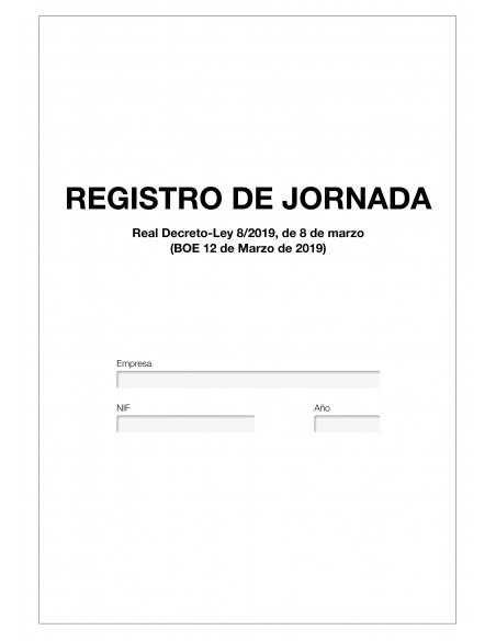 Libro Registro Jornada Laboral