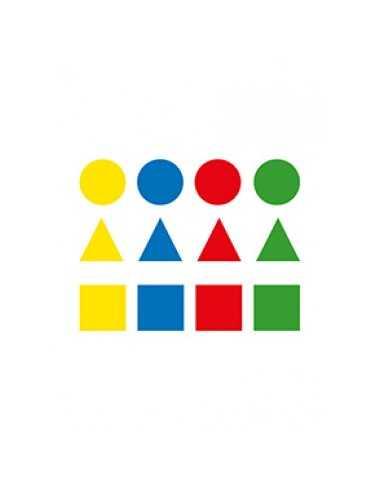 Bolsa Gomets Figuras Geométricas Pequeñas 12H Apli 00993
