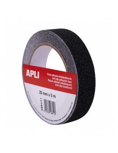 Cinta Adhesiva Antideslizante Negra 25mm x 5m Apli 18811