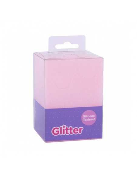 Cubilete Silicona Portalápices Rosa Glitter Collection  1