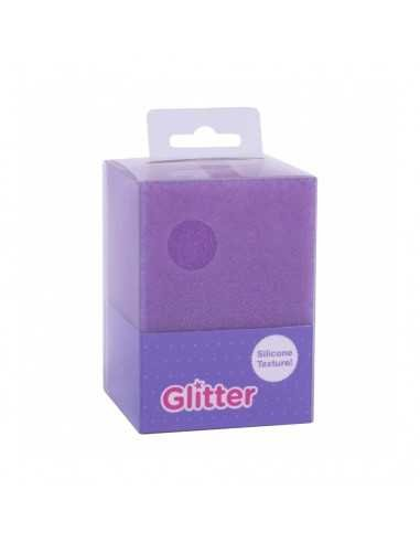 Cubilete Silicona Portalápices Lila Glitter Collection Compraetiquetas 1