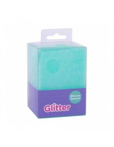 Cubilete Silicona Portalápices Azul Turquesa Glitter Collection Compraetiquetas 1