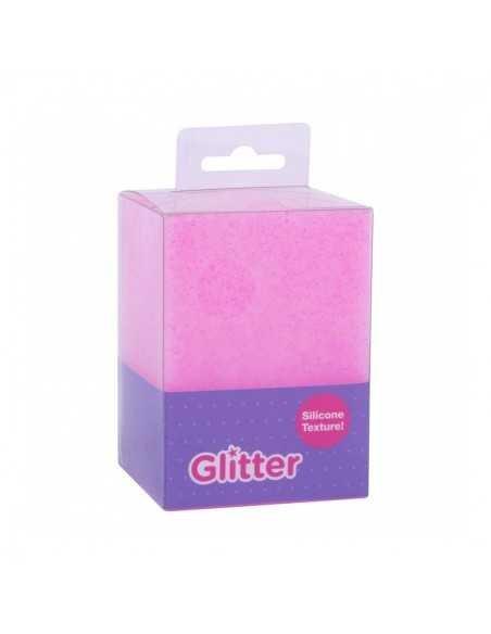 Cubilete Silicona Portalápices Fucsia Glitter Collection Compraetiquetas