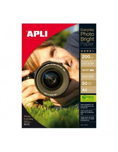 Papel Fotográfico Photobright A4 200 gr Apli 12239