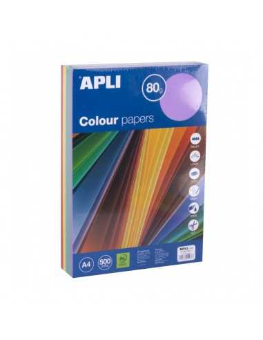 Papel Colores Tonos Intensos A4 Apli 15286