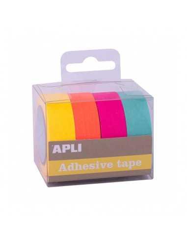 Cintas Adhesivas Papel Washi Colores Fluor Surtidos Compraetiquetas 1
