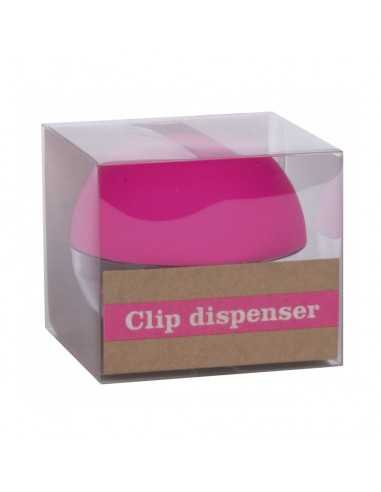 Portaclips Dispensador Fluor Collection Color Rosa Compraetiquetas
