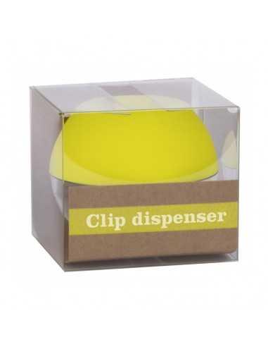 Portaclips Dispensador Fluor Collection Color Amarillo Compraetiquetas