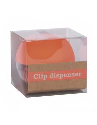 Portaclips Dispensador Fluor Collection Color Naranja Compraetiquetas