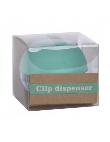 Portaclips Dispensador Fluor Collection Color Azul