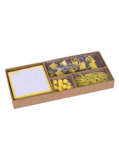 Set De Oficina Flúor Collection Amarillo Compraetiquetas