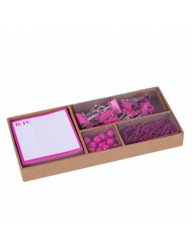 Set De Oficina Flúor Collection Rosa Compraetiquetas
