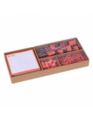 Set De Oficina Flúor Collection Naranja Compraetiquetas