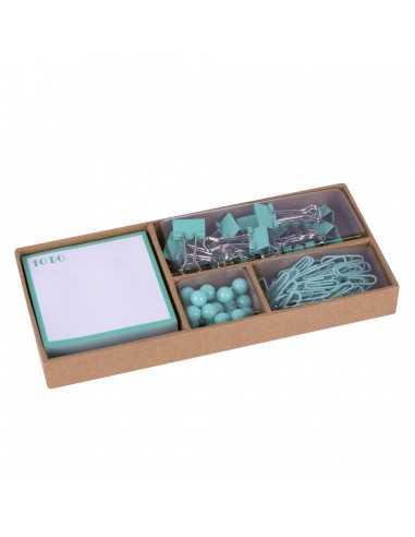 Set De Oficina Flúor Collection Turquesa Compraetiquetas