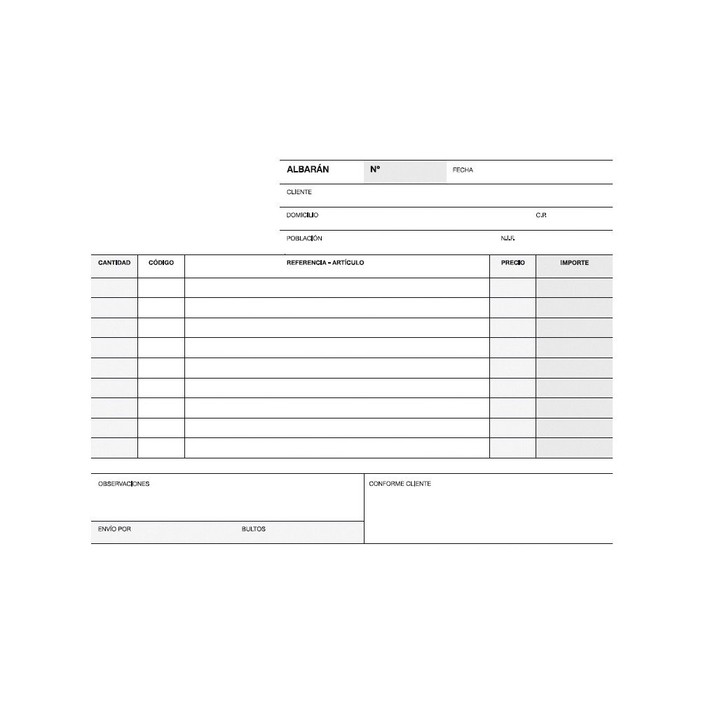 Talonario Albaranes Triplicado Castellano 210x145 mm Apli 12687-1